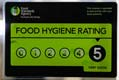 Awarded 5 star Food Hygiene Rating