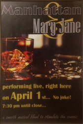 Manhatten Mary Jane  - Entertainment in Oxted