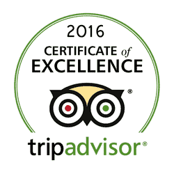 Tripadvisor awards Cafe Papillon a Certificate of Excellence