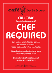 Full Time Chef Required
